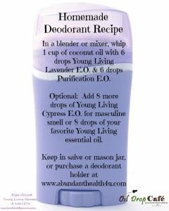 Deodorant recipe