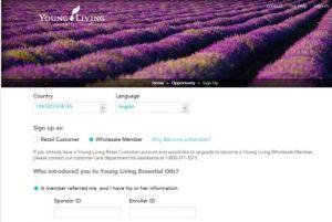 enrollment page