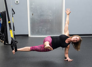 TRX single leg side plank